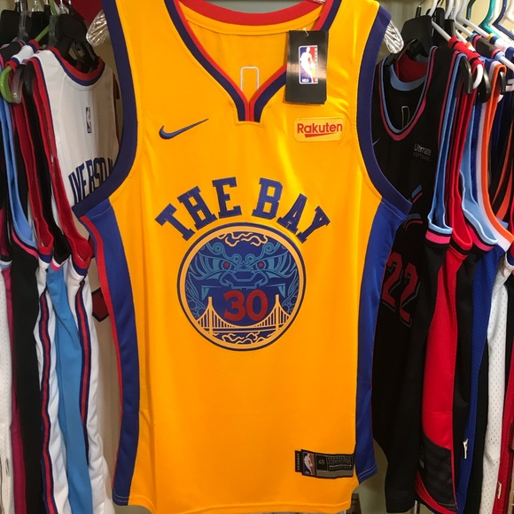 timeless design 8a17e 3a030 Steph Curry THE BAY NBA City Edition Jersey NWT
